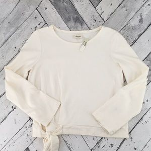 Madewell Tops - Madewell Side Tie Long Sleeve Tee